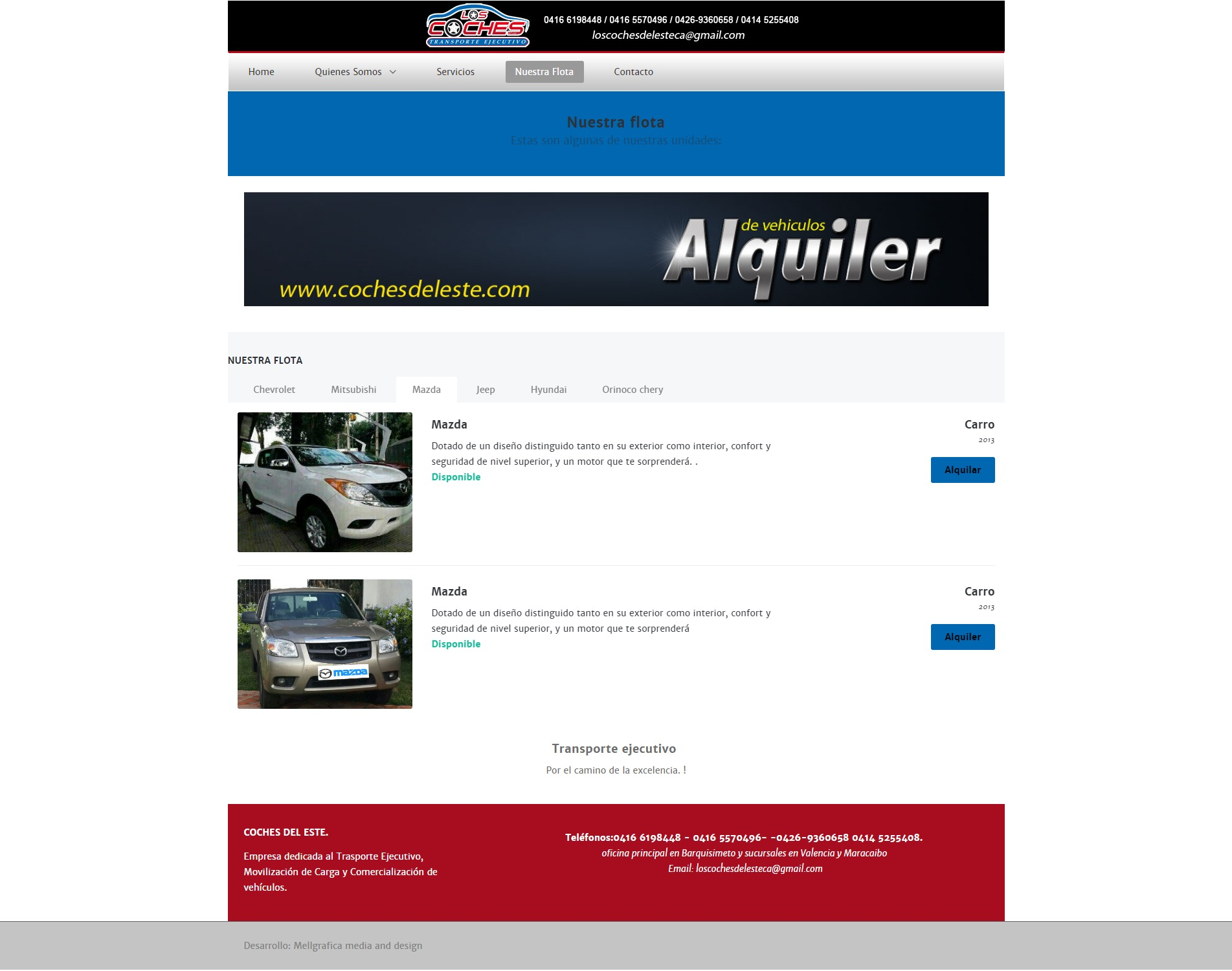 Website Los Coches del Este