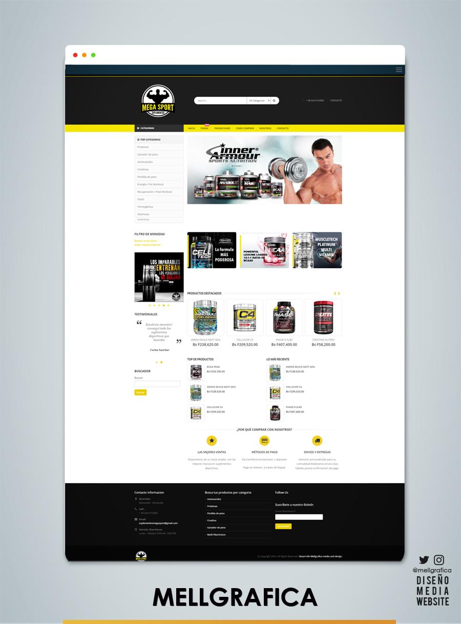 Website Sumplementos Mega sport