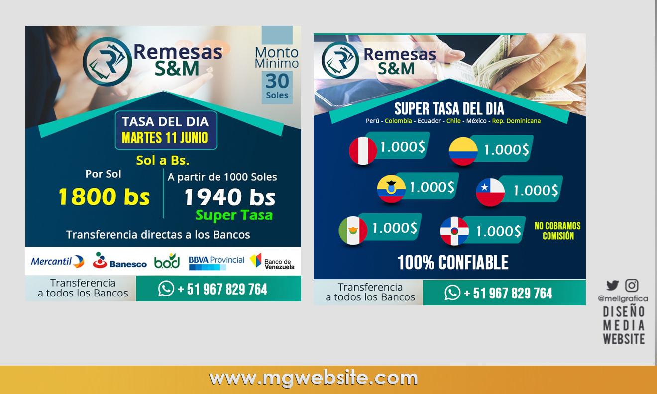Diseño Identidad gráfica Remesas S&M