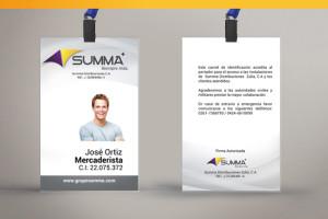 Diseño de carnet corporativo Summa