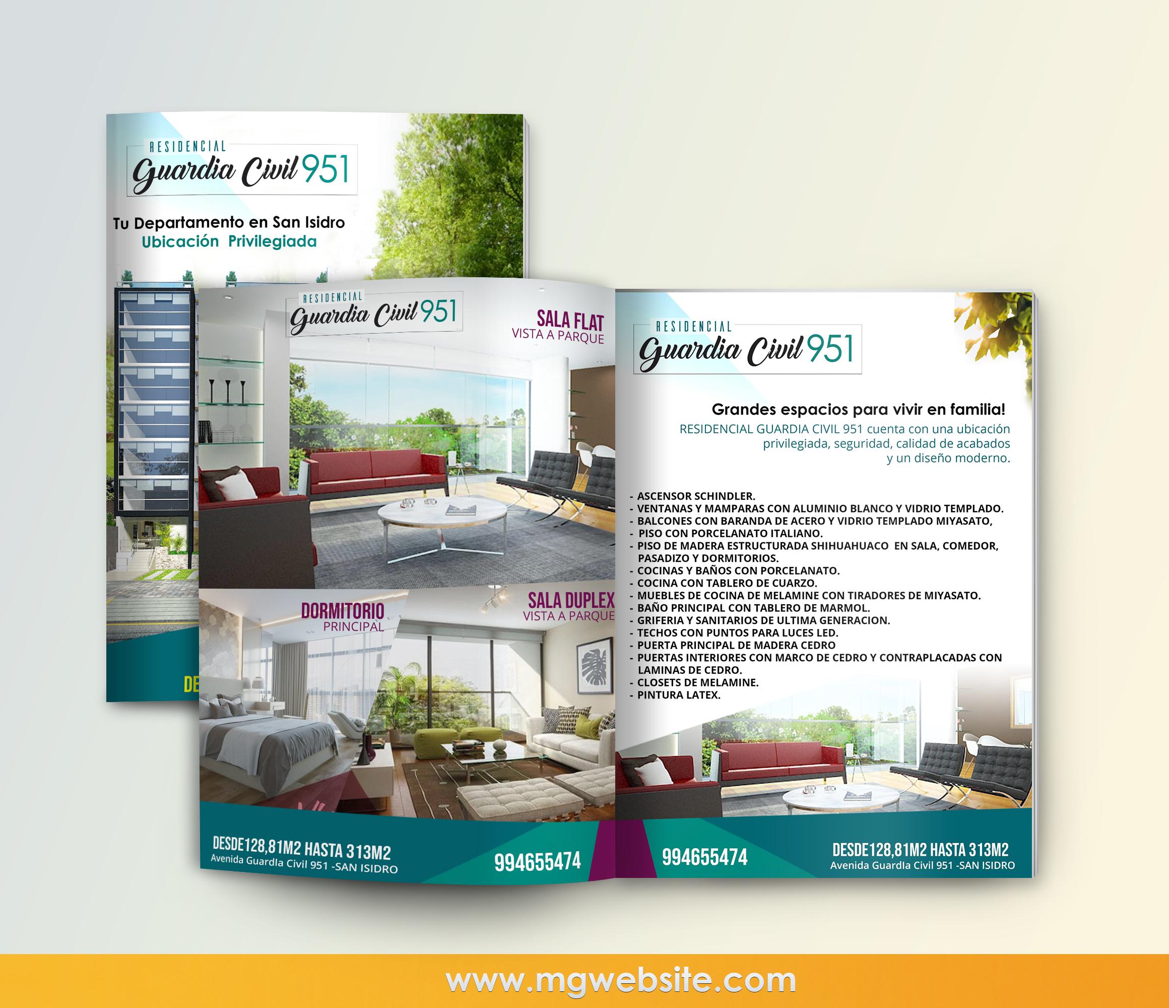 Diseño brouchere Inversiones Betzolas