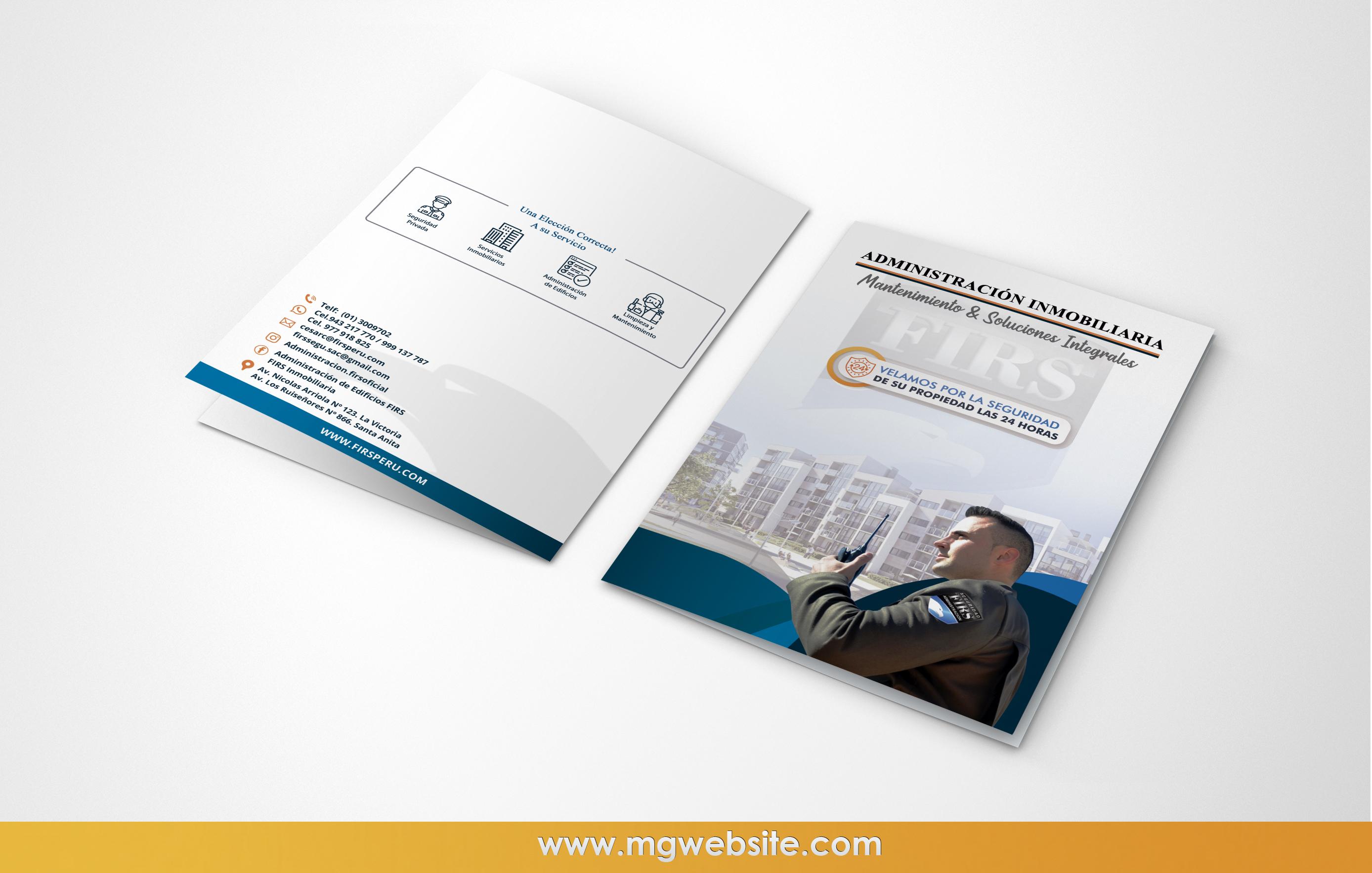 Firsperu Diseño publicitario tarjetas|diptico|carpetas
