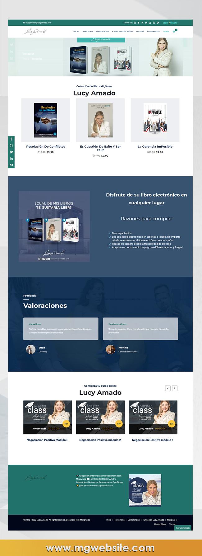 Website  lucyamado